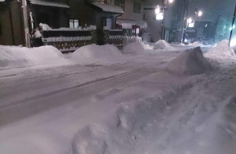 長野県の積雪