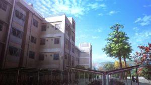 空の青さを知る人よの聖地巡礼場所(秩父高校)
