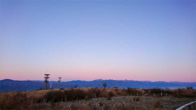 高ボッチ高原の朝焼け