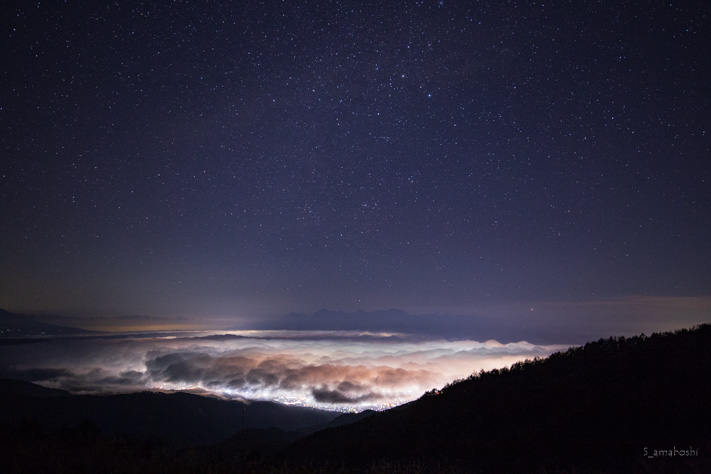 高ボッチ高原の夜景