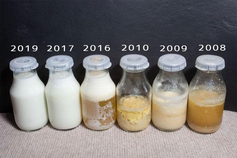 放置した牛乳