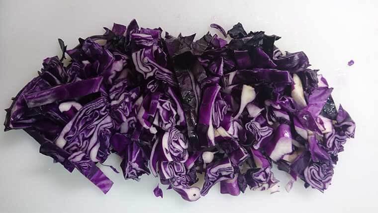 紫キャベツの実験