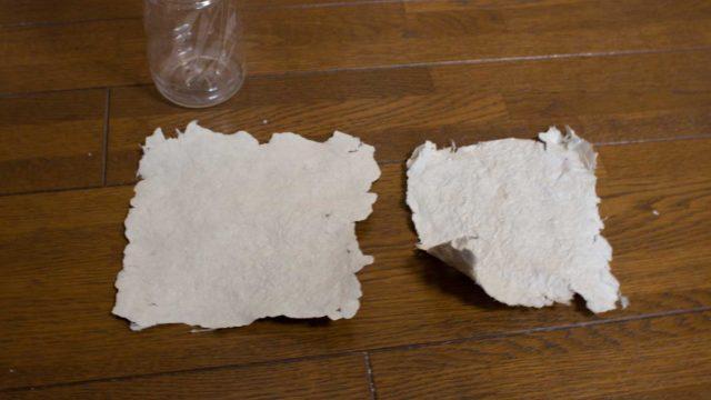 新聞紙からトイレットペーパーを作る