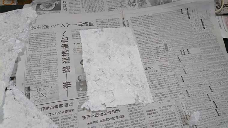 牛乳パックから新聞紙