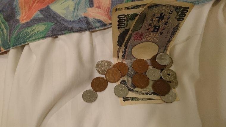 お札と小銭3475円