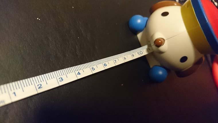 巻き尺測るマル
